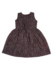 Jazzup Girls Maroon Floral Print A-Line Dress
