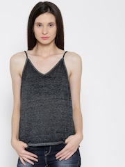 FOREVER 21 Charcoal Grey Burn-Out Top