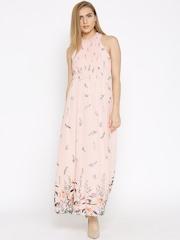 Vero Moda Pink Printed Polyester Maxi Dress