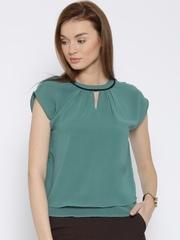Vero Moda Teal Green Polyester Layered Top