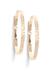 FOREVER 21 Gold-Toned Textured Hoop Earrings