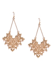 FOREVER 21 Gold-Toned Cut-Out Drop Earrings