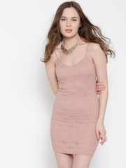 FOREVER 21 Dusty Pink Lace Bodycon Dress