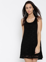 FOREVER 21 Black Lace A-Line Dress