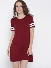 FOREVER 21 Women Maroon Jersey Dress
