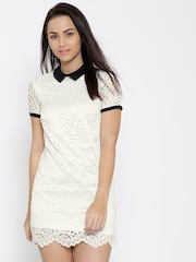 FOREVER 21 White Lace Sheath Dress