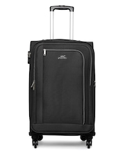 Pronto Unisex Black Madrid 4 W Spinner 67 Medium Trolley Bag available at Myntra for Rs.2767