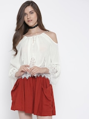 FOREVER 21 Women White Lace Top