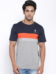 Jack & Jones Grey Melange & Navy T-shirt