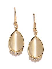 Estelle Gold-Toned Stone-Studded Drop Earrings