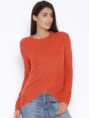 MANGO Rust Orange Sweater