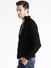 Replay Black Wool Blend Cardigan