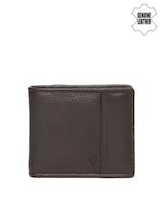 Van Heusen Men Brown Genuine Leather Wallet
