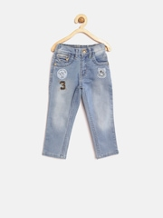 Palm Tree Boys Blue Mid-Rise Washed Jeans
