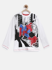 CHALK by Pantaloons Ultimate Spiderman Boys White Printed T-shirt