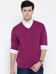 Monte Carlo Men Purple Solid Sweater