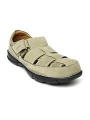Woodland ProPlanet Men Khaki Leather Closed Sandals