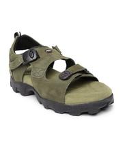 Woodland ProPlanet Men Olive Green Leather Sandals