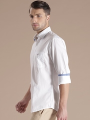 Louis Philippe Sport White Jermyn Tailored Fit Casual Shirt