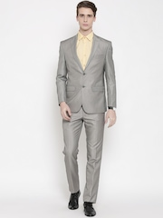 Louis Philippe Grey Ultra Fit Formal Suit