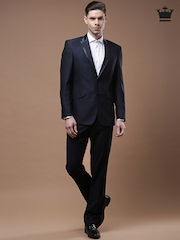 Louis Philippe Navy Ultra Fit Single-Breasted Suit