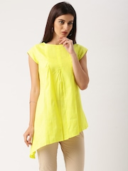 IndusDiva Khadi Originals Yellow Kurti