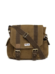 FILA Unisex Brown Relaxer Messenger Bag