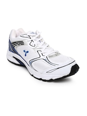 Spinn Men White & Blue Force Sports Shoes