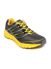 Spinn Men Grey & Yellow Hunt Sports Shoes