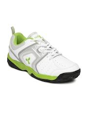 Spinn Men White Running Shoes