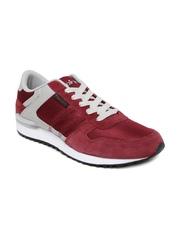 Spinn Men Maroon & Grey Training Shoes