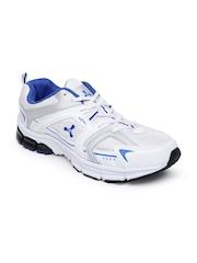 Spinn Men White & Blue Training Shoes