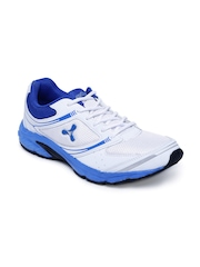 Spinn Men White & Navy Training Shoes