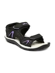 Spinn Women Black & Grey Express Sports Sandals