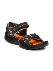 Spinn Men Black & Orange Merrell Sports Sandals