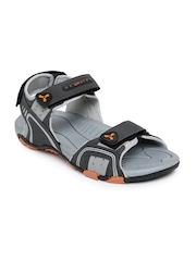 Spinn Men Grey Rapid Sports Sandals