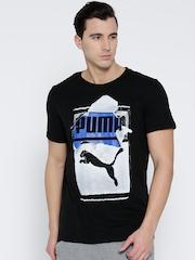 Puma Men Black Printed T-Shirt