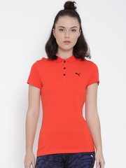 Puma Women Red Polo T-shirt