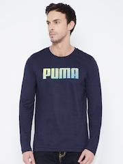 Puma Men Navy Printed T-Shirt