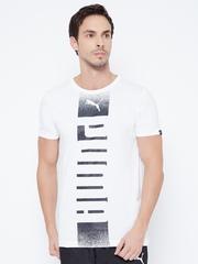 PUMA Men White Printed DryCELL T-shirt