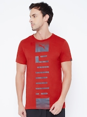 PUMA Men Red Printed DryCELL T-shirt