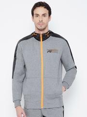 PUMA Men Grey Solid Jacket