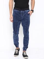 LOCOMOTIVE Men Blue Slim Fit Mid-Rise Jogger Jeans