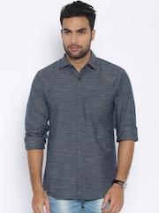 Wrangler Men Navy Blue Regular Fit Casual Shirt