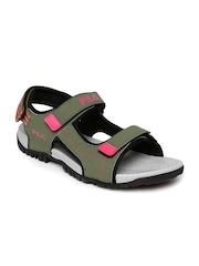 FILA Men Olive Green Sports Sandals