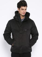 PUMA  Black Polyester Bomber Hooded Jacket