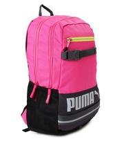 PUMA Unisex Pink & Navy Deck Colourblocked Backpack