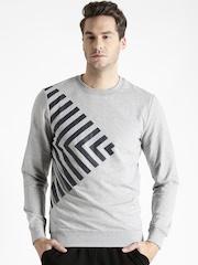 Antony Morato Grey Melange Printed Sweatshirt