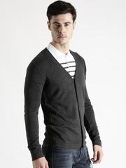 Antony Morato Men Charcoal Grey Cardigan