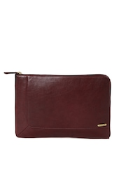 Hidesign Unisex Maroon Leather Laptop Sleeve